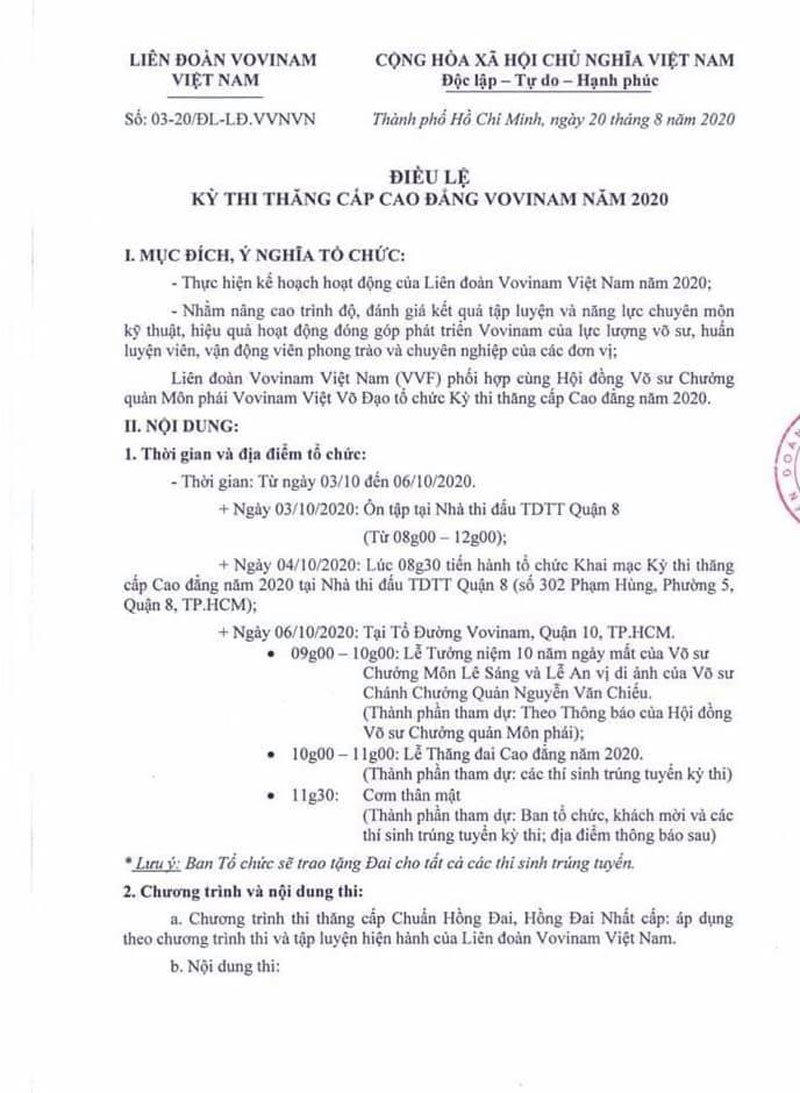 dieu-le-ky-thi-thang-cap-cao-dang-vovinam-nam-2020